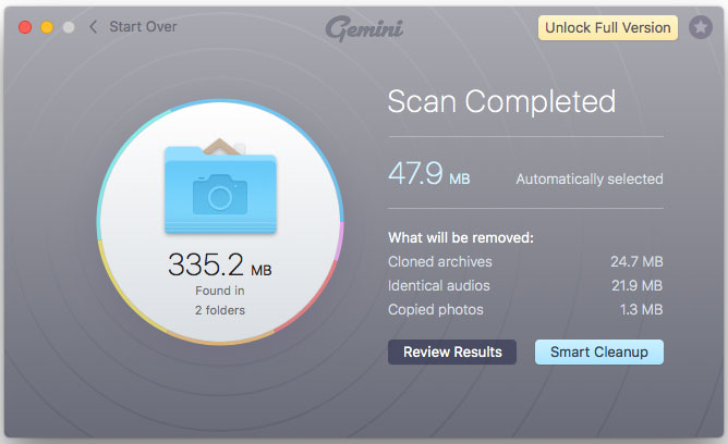Gemini 2 scan results