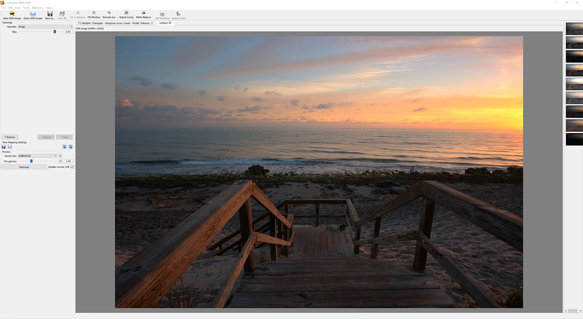 free HDR software - LuminanceHDR