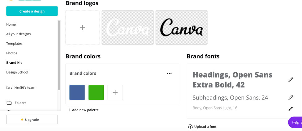 canva brand kit tool