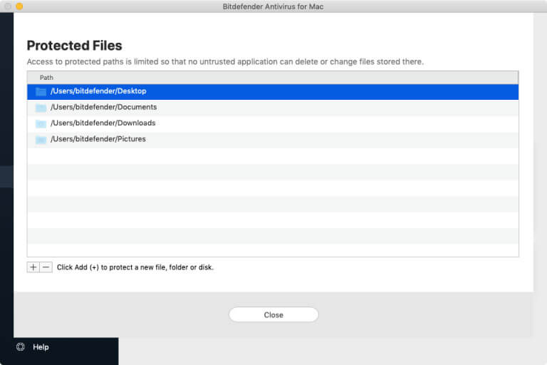 Bitdefender Antivirus safe files