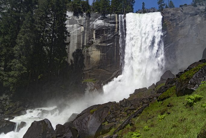 Vernal Falls in Yosemite National Forest.