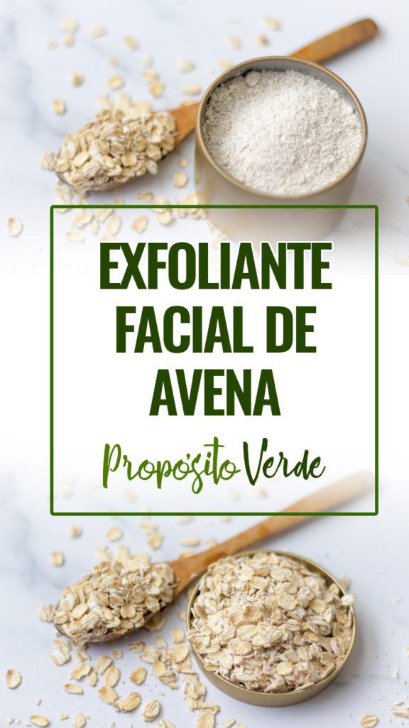 Exfoliante facial de avena