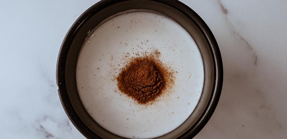 leche de coco con canela y sal