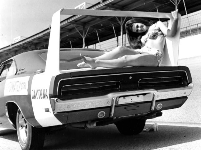 1969 Dodge Charger Daytona w-Model Rear BW