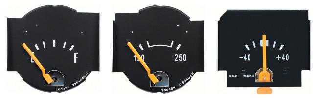 OER - 1970-71 Mopar Fuel Temp Amp Gauges (High Res)