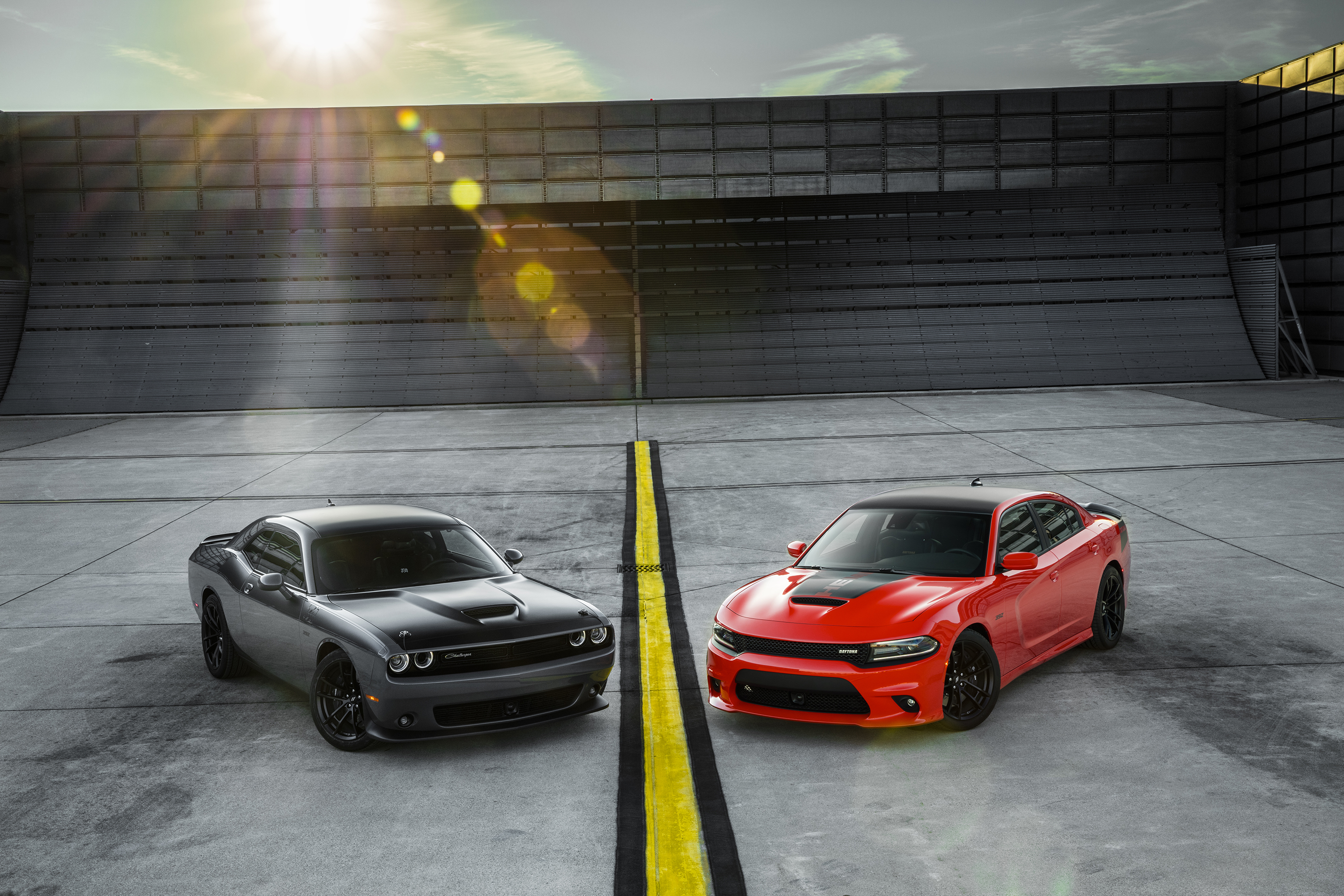 2017 Dodge Challenger T/A 392  (left) and 2017 Dodge Charger Day