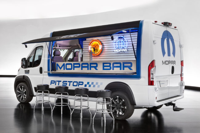 Ram ProMaster Pit Stop features a drop-down bar counter and has