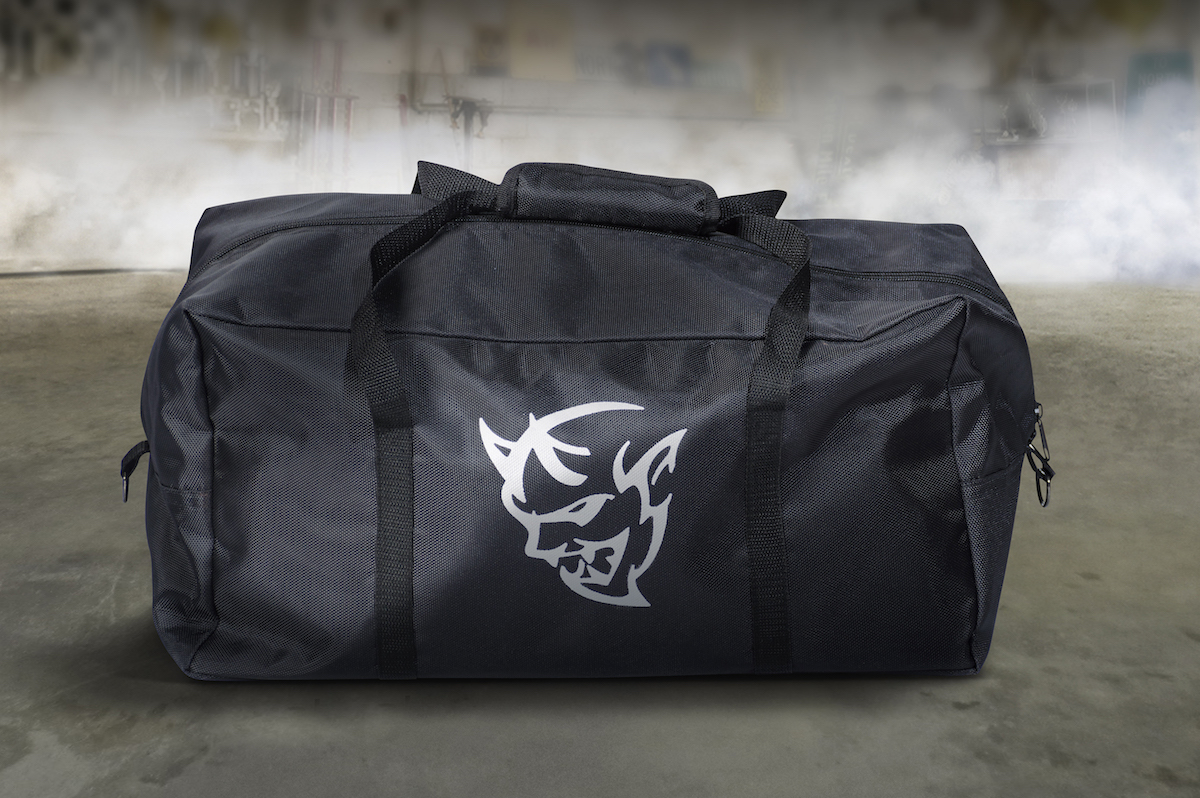 In collaboration with Dodge, Snap-on Business Solutions delivers what customers need to take the 2018 Dodge Challenger SRT Demon from the street to the drag strip and back again. This is a special, limited-production set of tools for the Dodge Challenger SRT Demon that includes this tool bag.