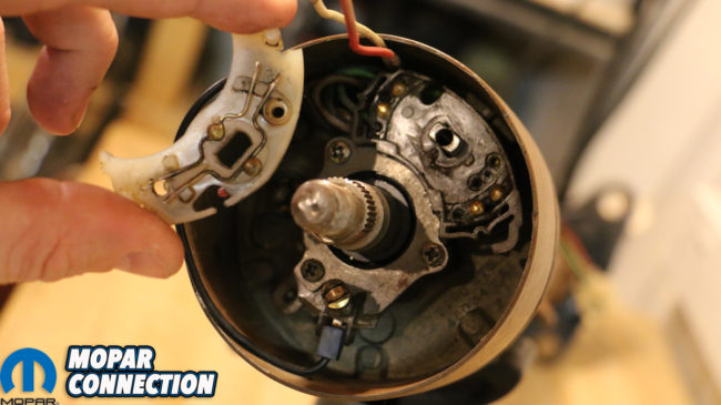 Switched On Mopar Steering Column Restoration Turn Signal Switch Installation Mopar Connection Magazine A Comprehensive Daily Resource For Mopar Enthusiast News Features And The Latest Mopar Techmopar Connection Magazine