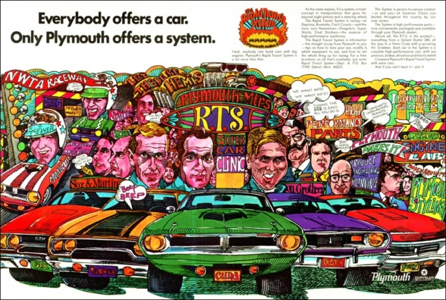 Dodge Scat Pack and Plymouth Rapid Transit System Chryslers Muscle Car Marketing Programs 1968-1972