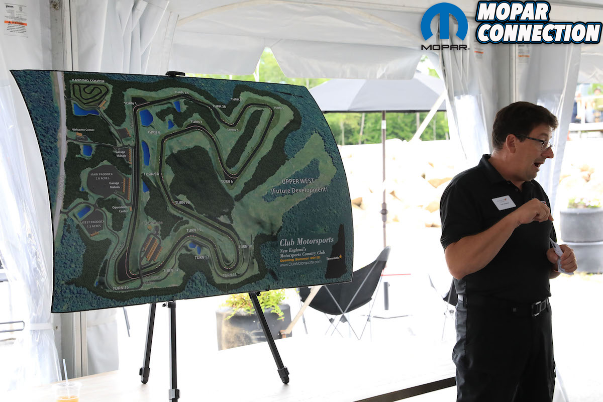 Club Motorsports track map and Erich Heuschele from SRT
