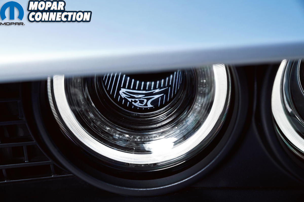 Driver-side functional Air Catcher headlamp of 2019 Dodge Challe