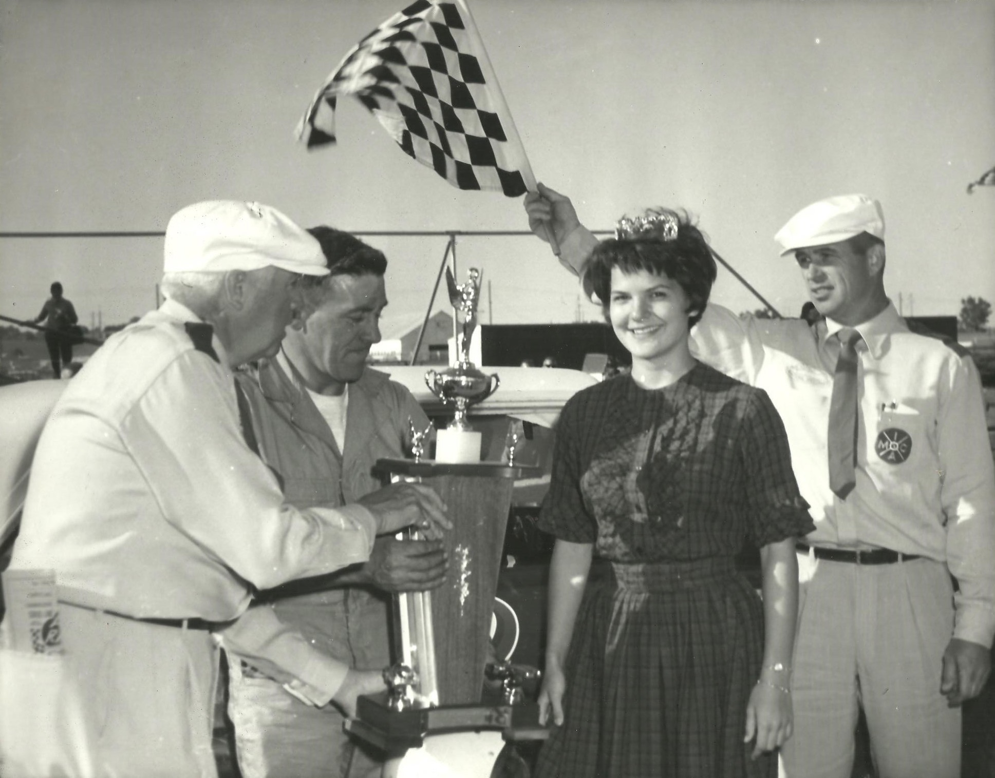 Ernie Derr at home in VL 001(Lee Ackerman collection)