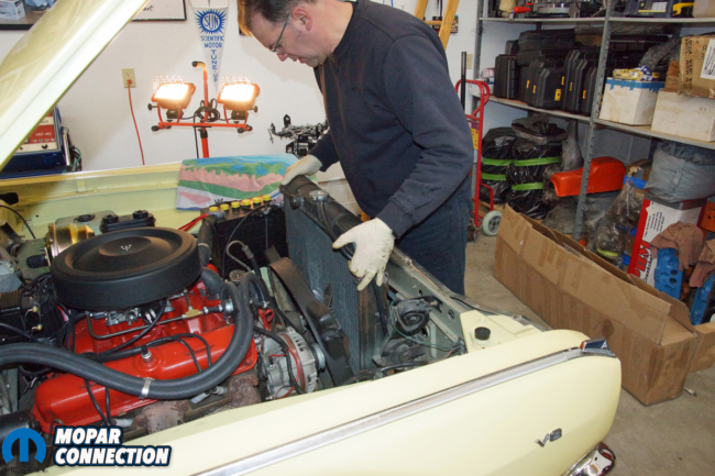 005-hughes-engine-cloyes-timing-chain-tensioner-mopar-radiator-removal