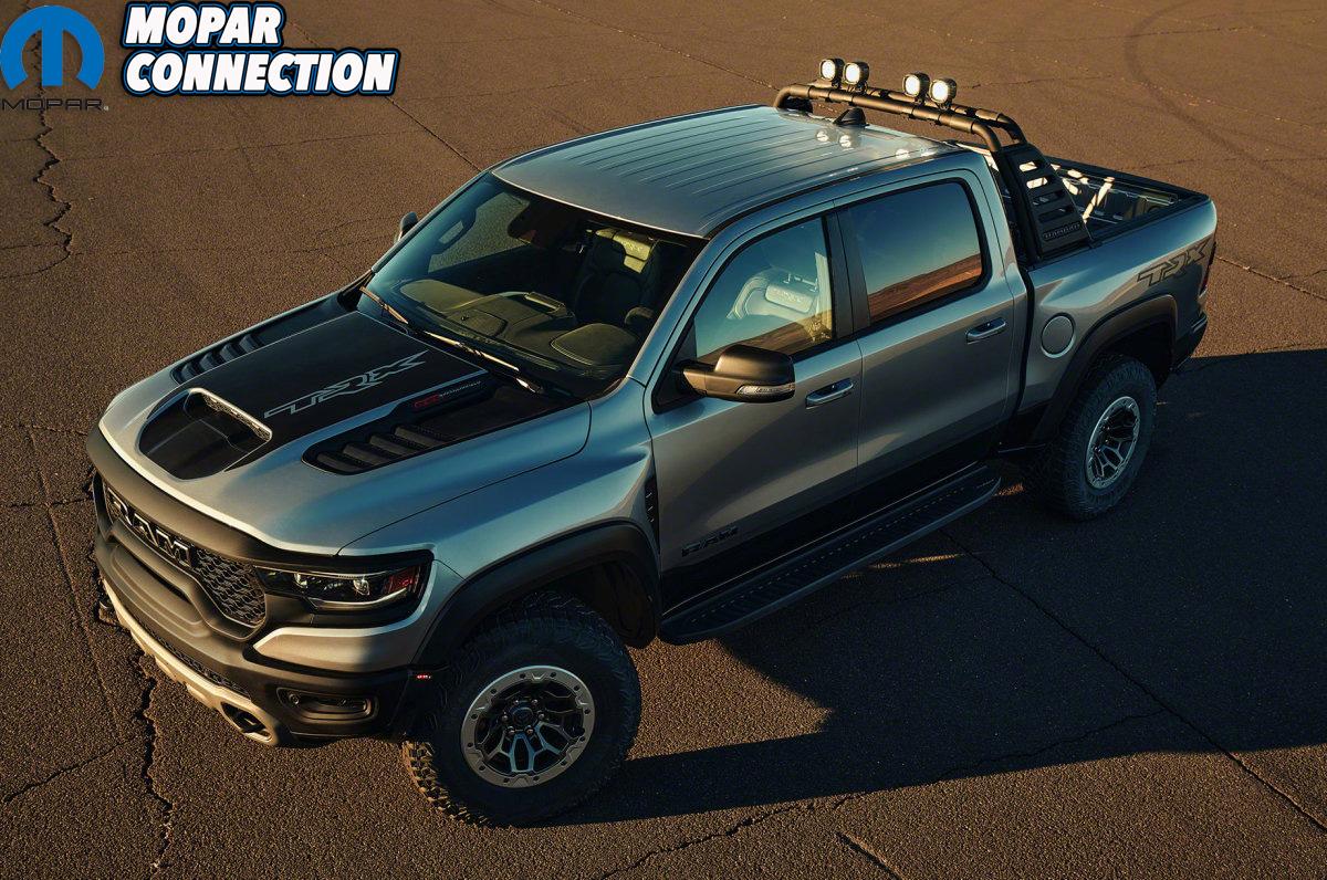 2021 Ram 1500 TRX front 3/4 overhead