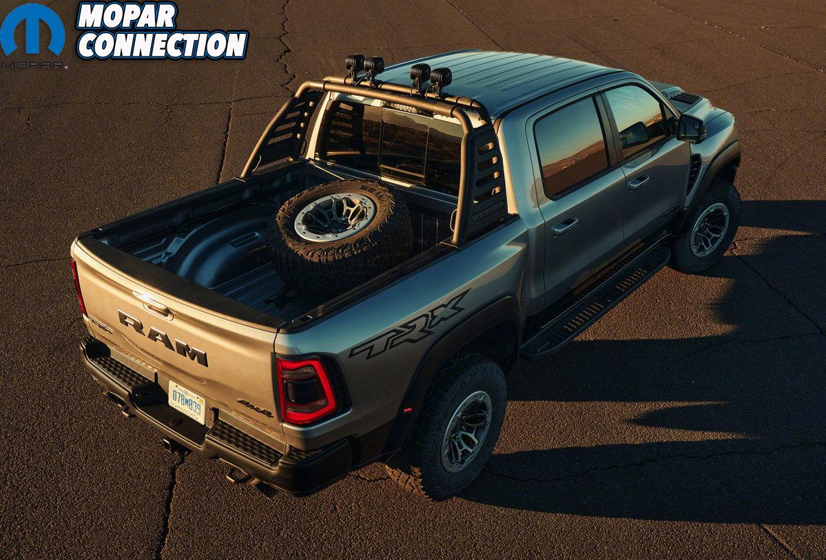 2021 Ram 1500 TRX rear 3/4 overhead