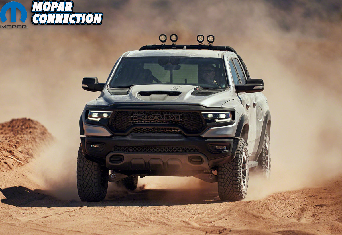 2021 Ram 1500 TRX front 3/4 in motion