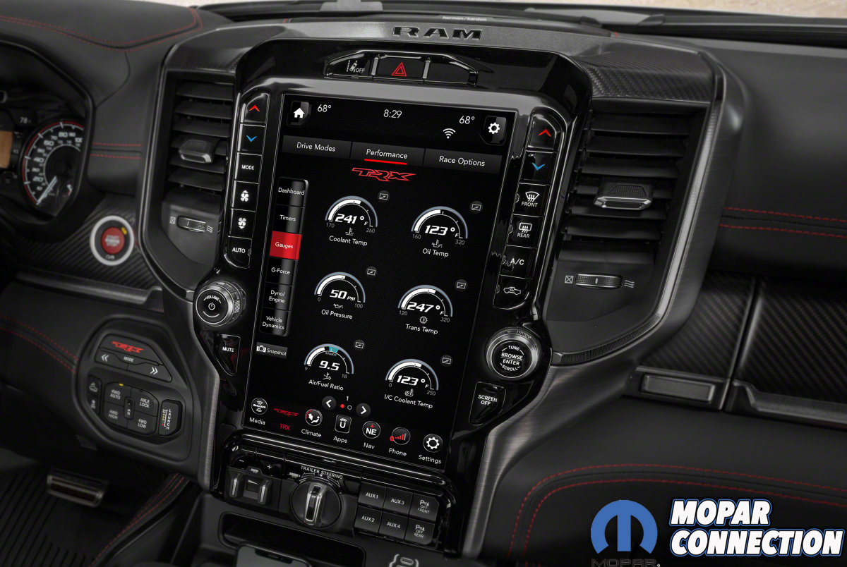 2021 Ram 1500 TRX performance pages with gauges