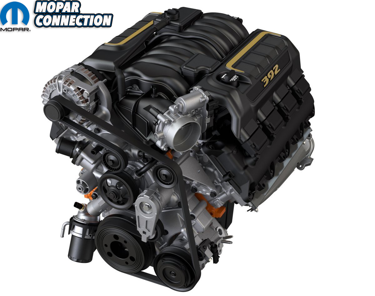2021 Jeep Wrangler Rubicon 392 isolated engine