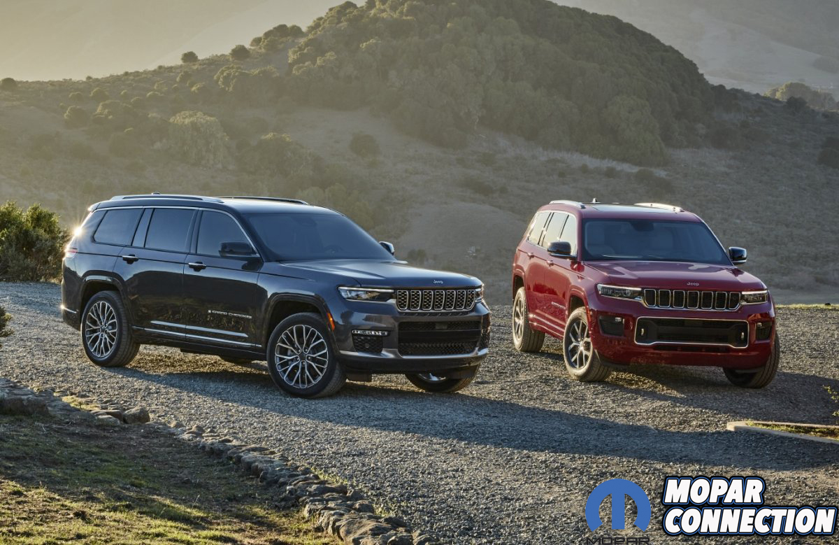 All-new 2021 Jeep® Grand Cherokee L Summit Reserve (left) and A