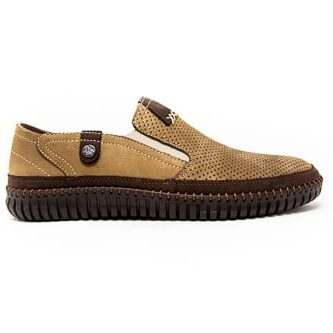 casual shoes easy slip tan for men