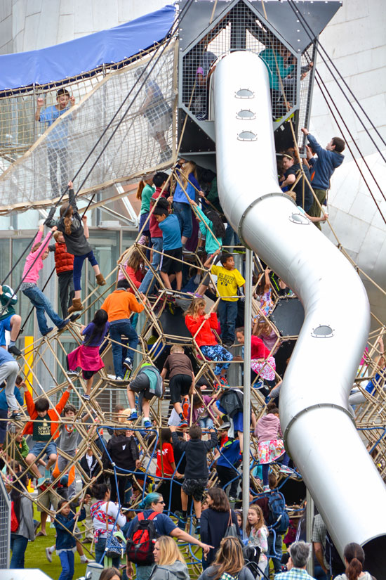 Net climber at Seattle Center Play Area