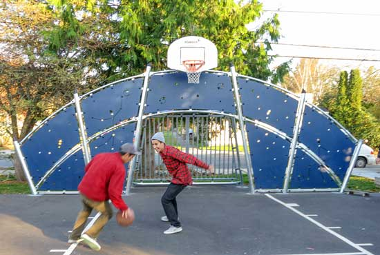 Commercial Park & Playground equipment: Multi-use sport court