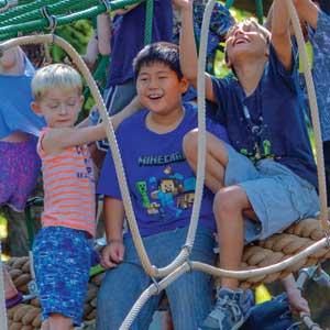 Multi level rope climbing dome playground equipment