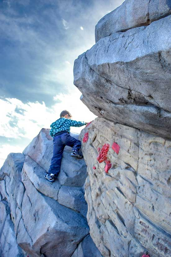 Rock climbing structures for parks and playgrounds