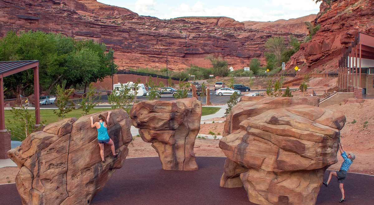 rock climbing sculptures for modern play areas
