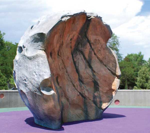 sculputed moon rock playground climber