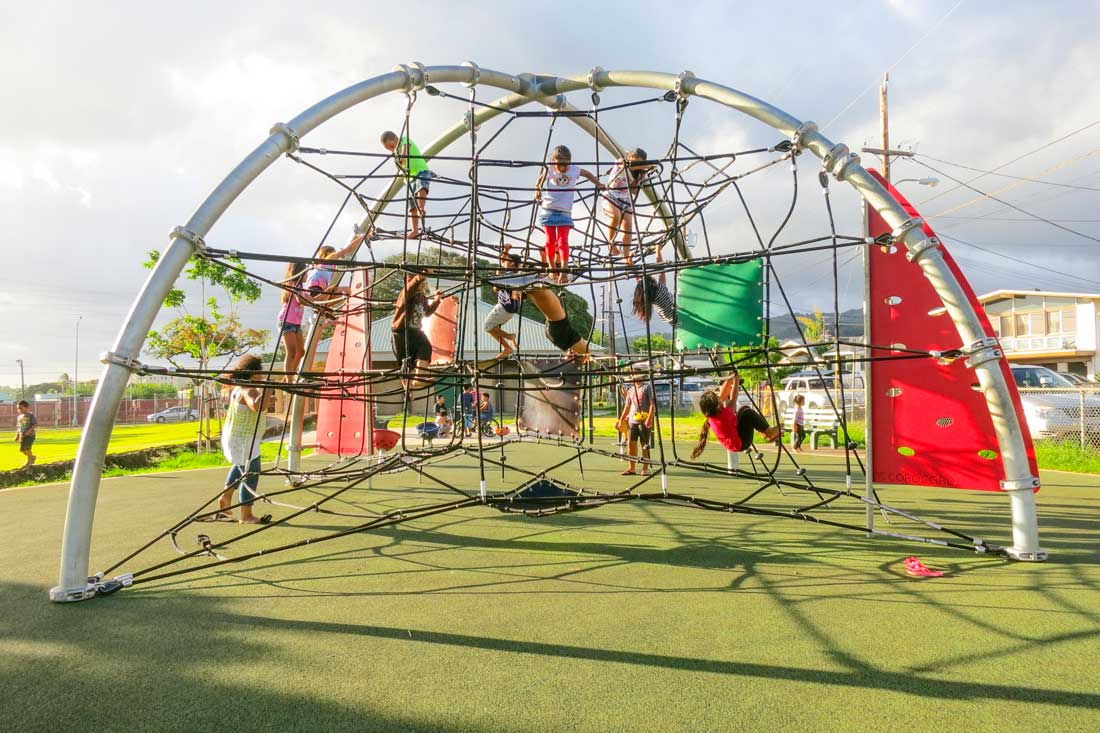 Dome Structure for climbing play equipment