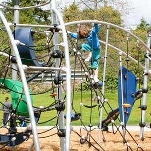 Modern sculptural playground