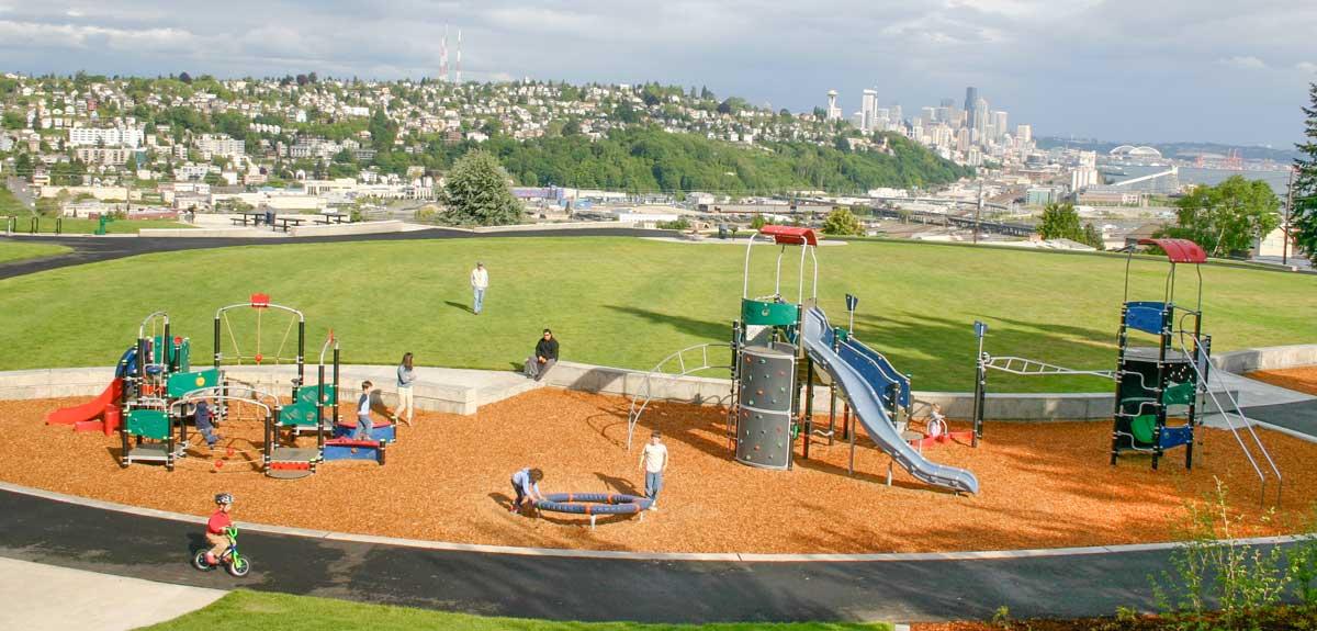 Multi-age playground equipment