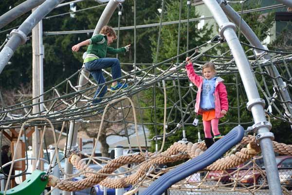 school age climbing playground