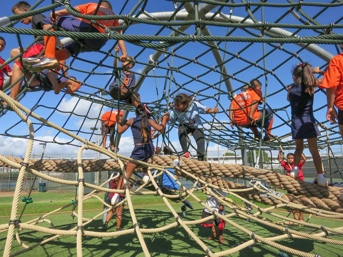 rope climbing dome for school age kids