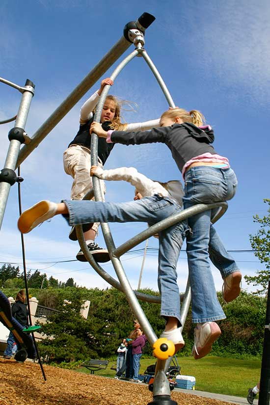 School age spinning playground equipment
