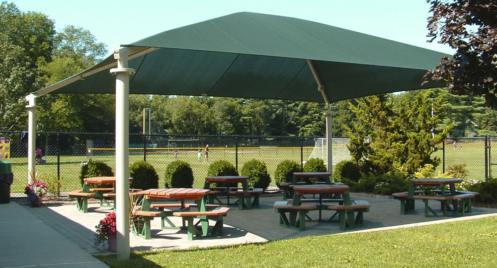 Commercial shade structure for picnic, playground and parks