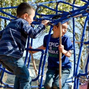 modern playground rope climbers
