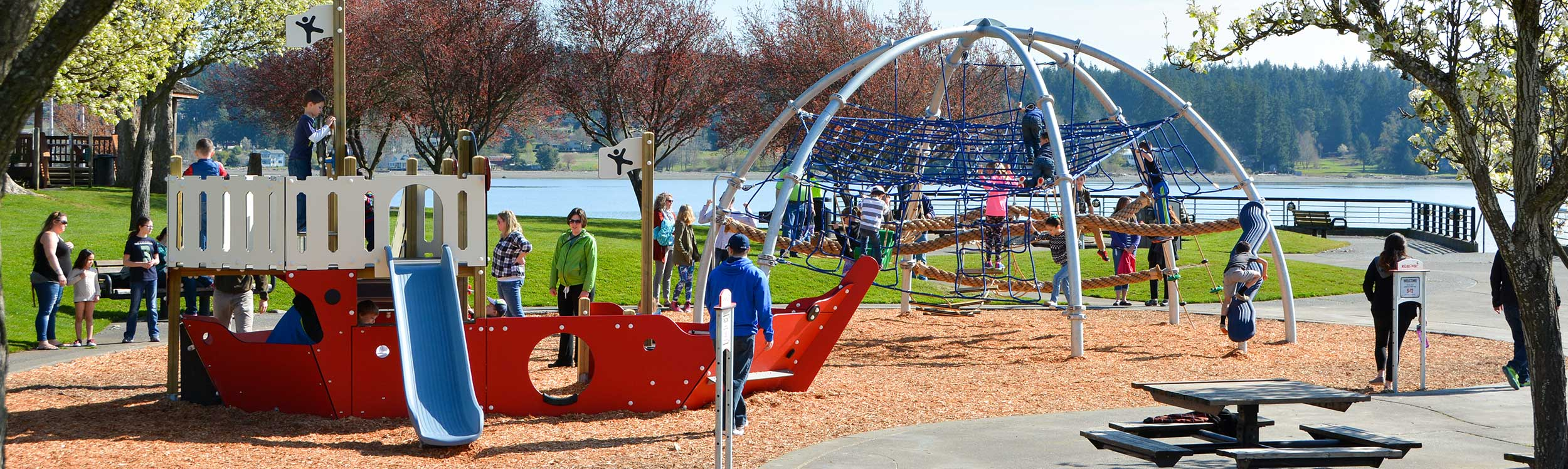 Family park and playground equipment
