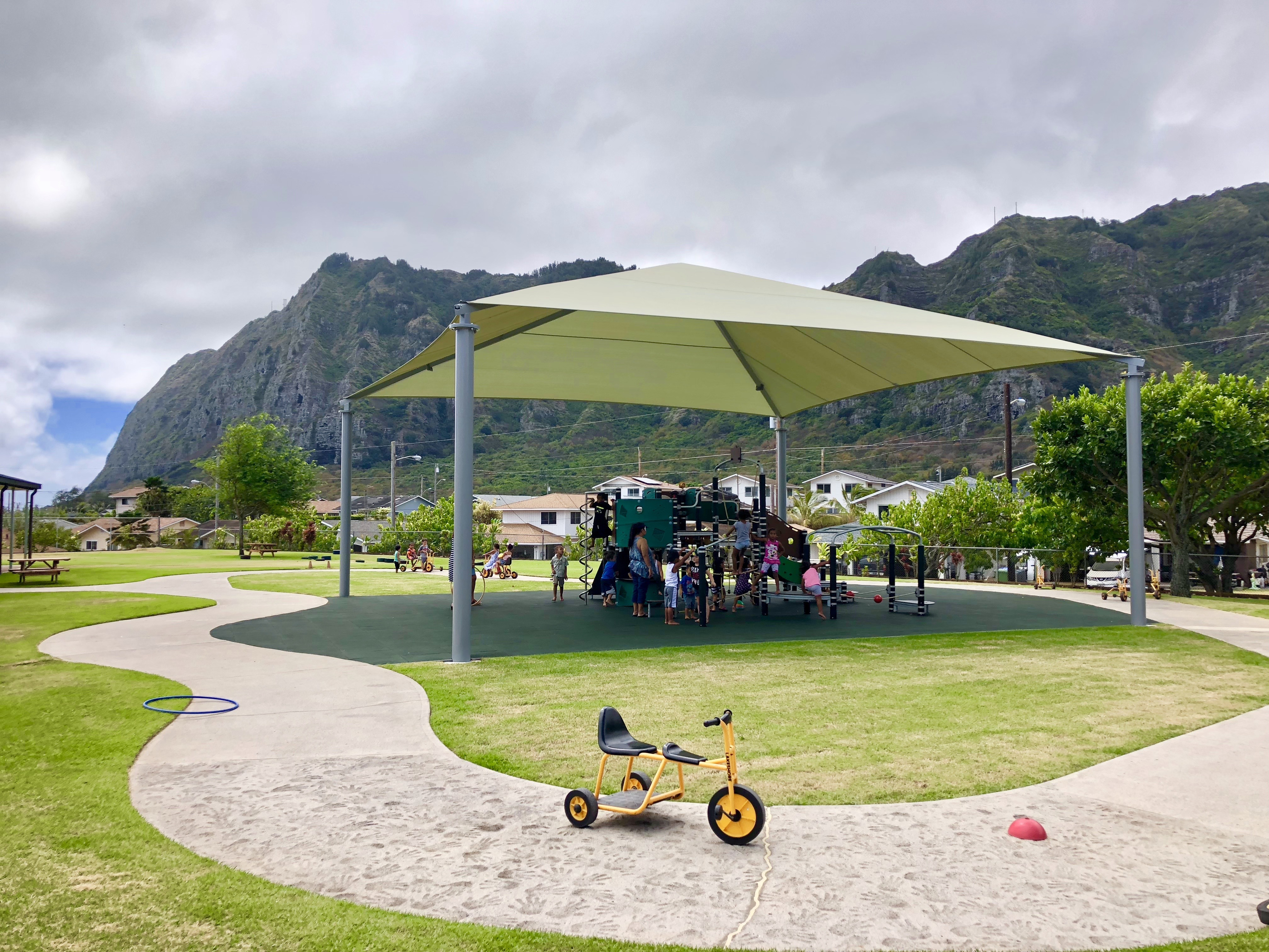 shades, awnings parks and playgrounds