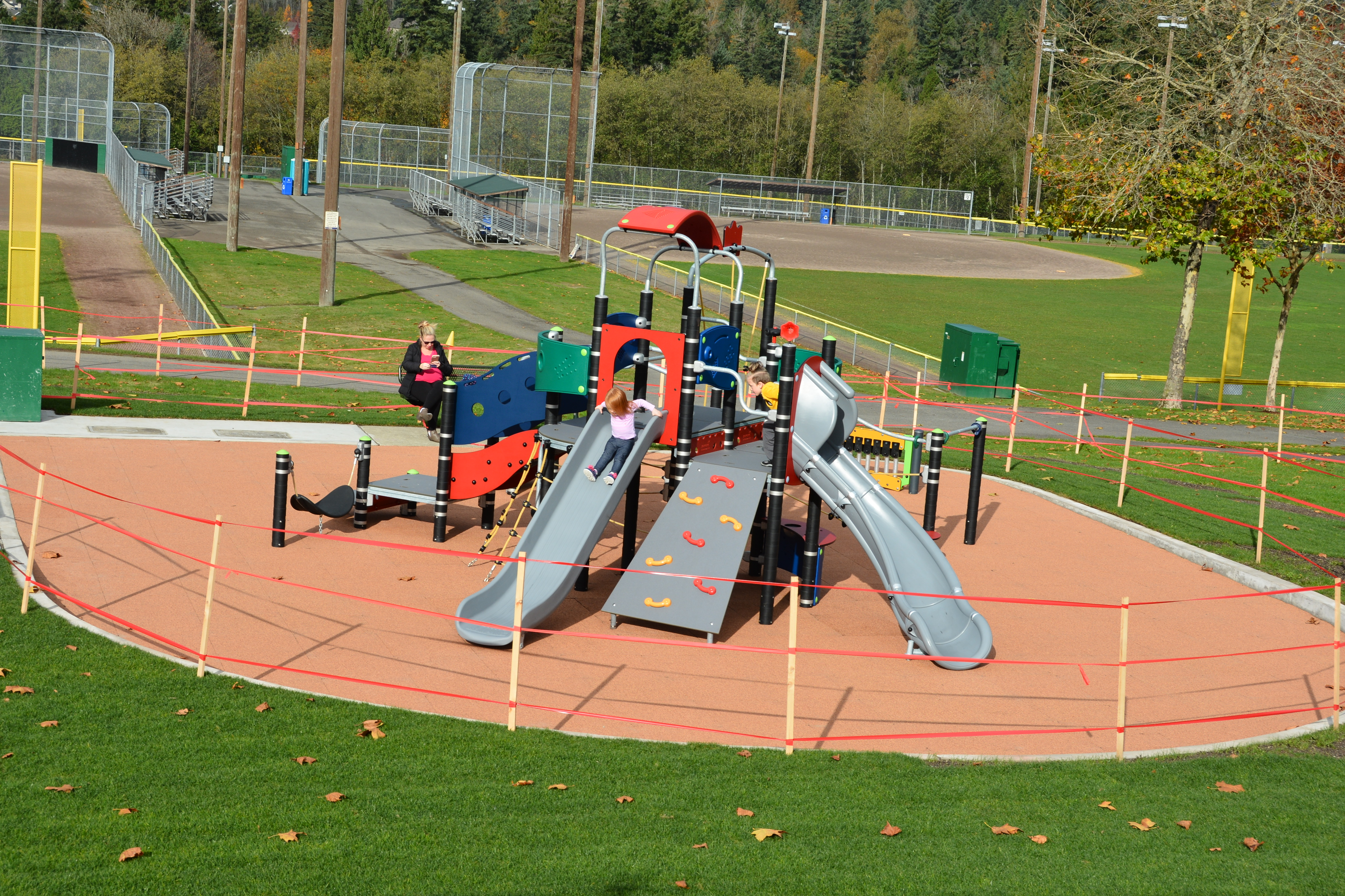 The 2-5 year old play structure at Petrovitsky Park