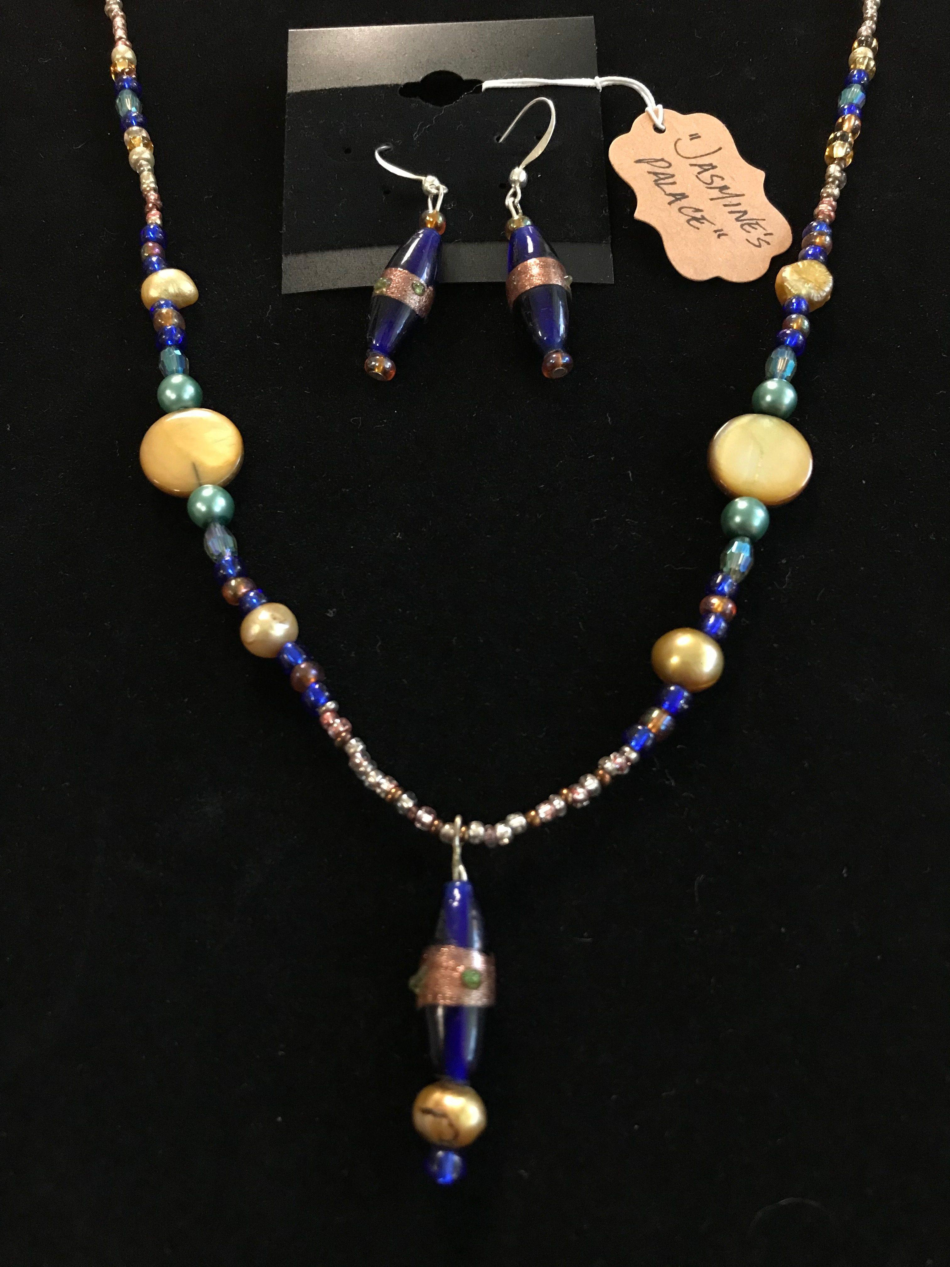 """""""Jasmine's Palace"""" - necklace/earring set"""