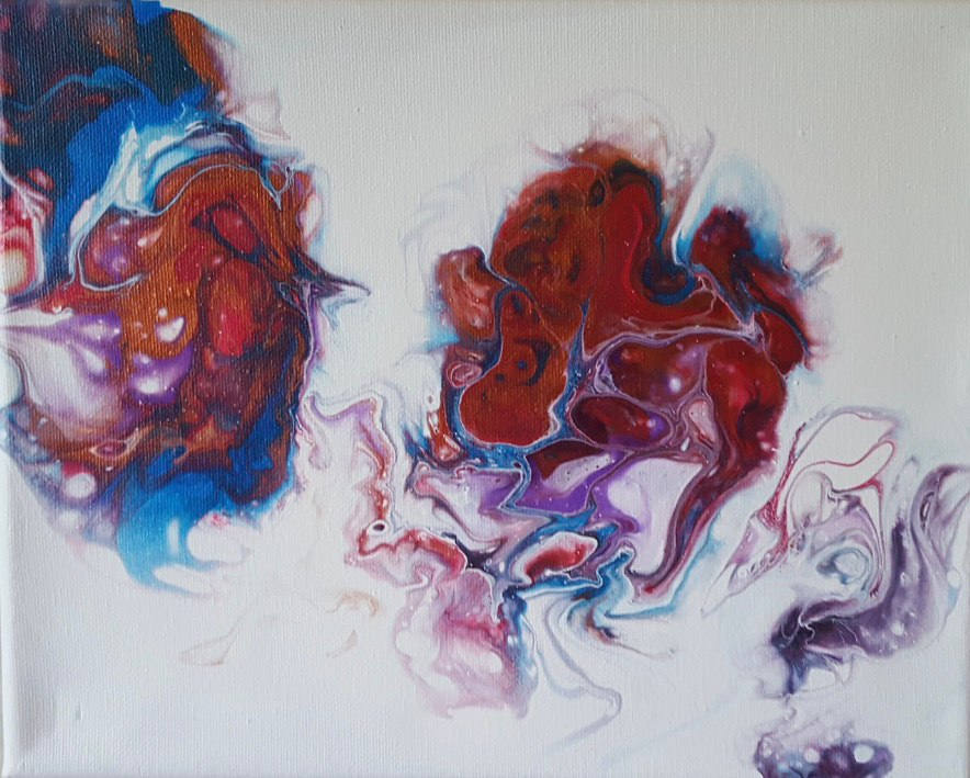 """""""The Whisperer"""" - painting on canvas"""