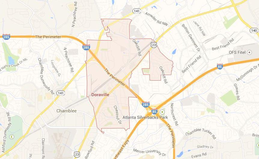 City Of Doraville, Dekalb County Map Location