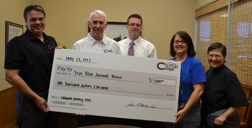 Caldwell Cares Check Presentation - sized
