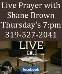 Live prayer with Shane Brown
