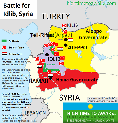 The Battle for Idlib Syria map