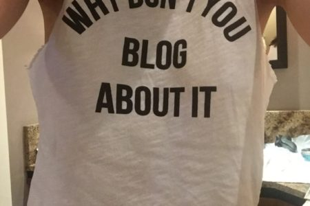 Why don't you blog about it shirt