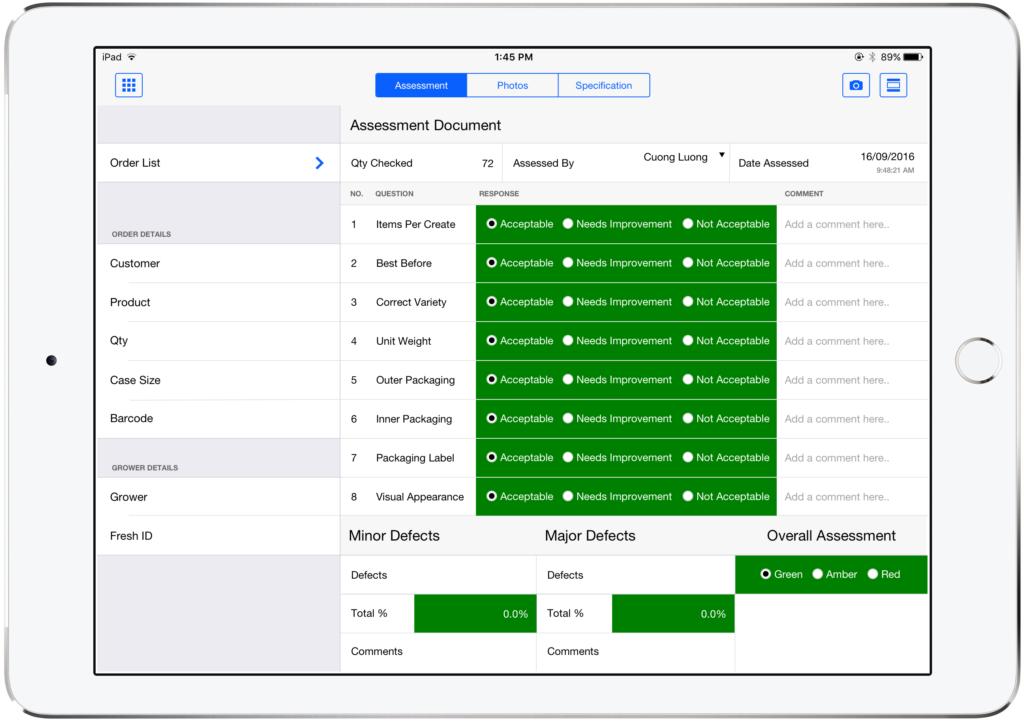 Simply Fruits Custom FileMaker Solution